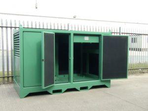 damped compressor acoustic enclosure