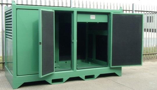 power pack damped acoustic enclosure